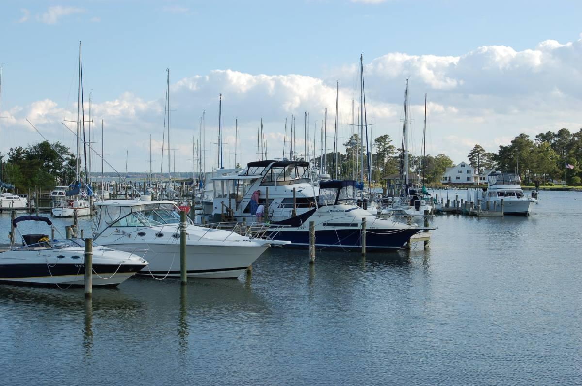Boats Docked at Crown Pointe Marina