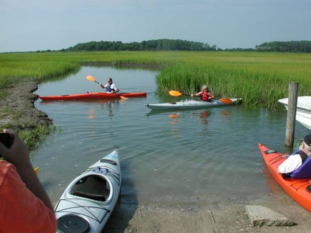 Cape Charles. Visitors to Cape Charles can enjoy kayaking and a half-mile of free public access beach. (Photo courtesy Tom McKnight)