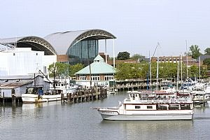 Hampton, Virginia. The downtown Hampton waterfront charms visitors. (Photo courtesy Virginia.org)
